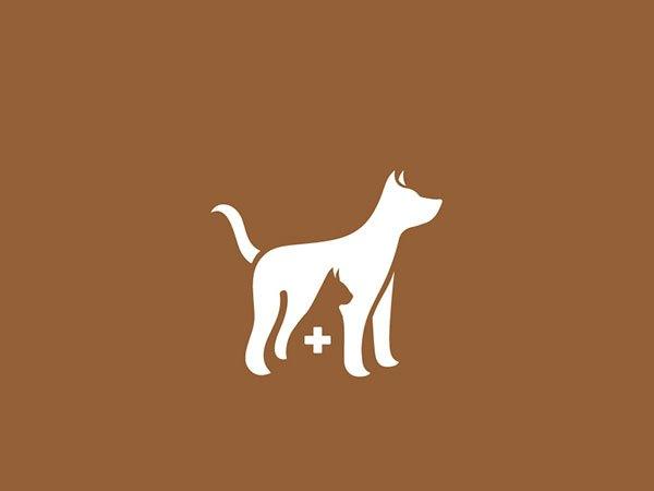 Sjabloon logo hond en kat