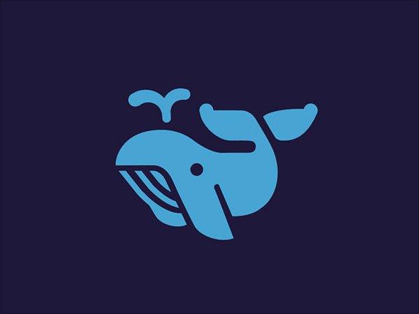 Sjabloon logo walvis