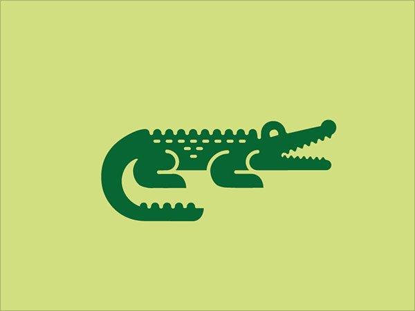 Sjabloon logo krokodil