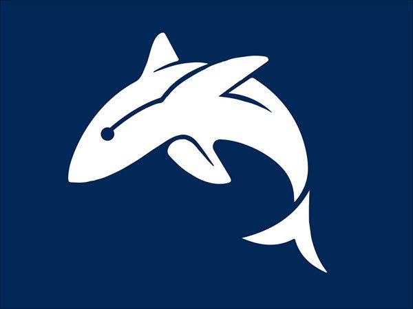 Sjabloon logo dolfijn