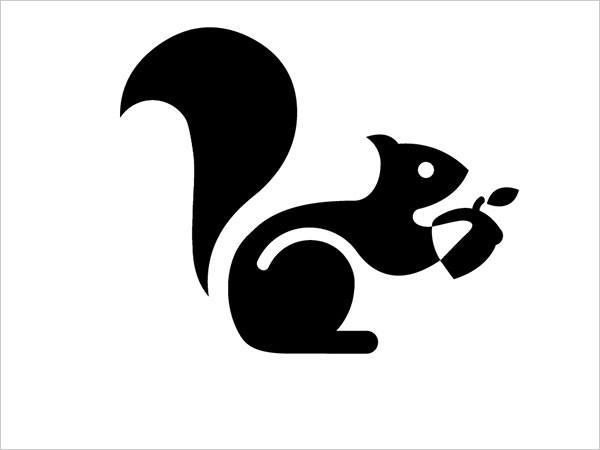 Sjabloon logo eekhoorn