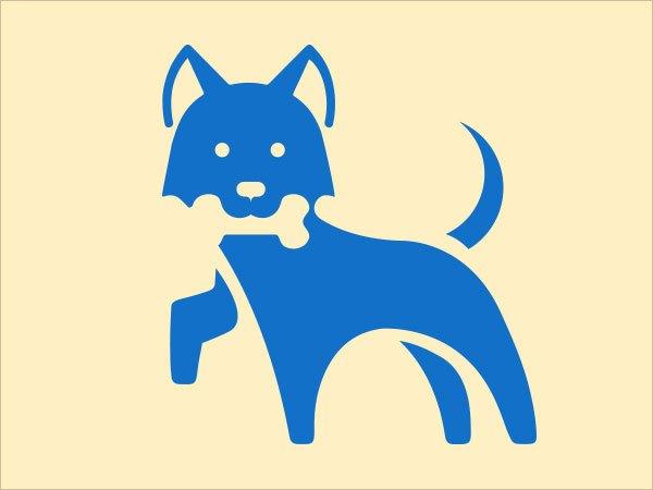 Sjabloon logo hond